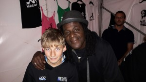 Toby with neville Staples