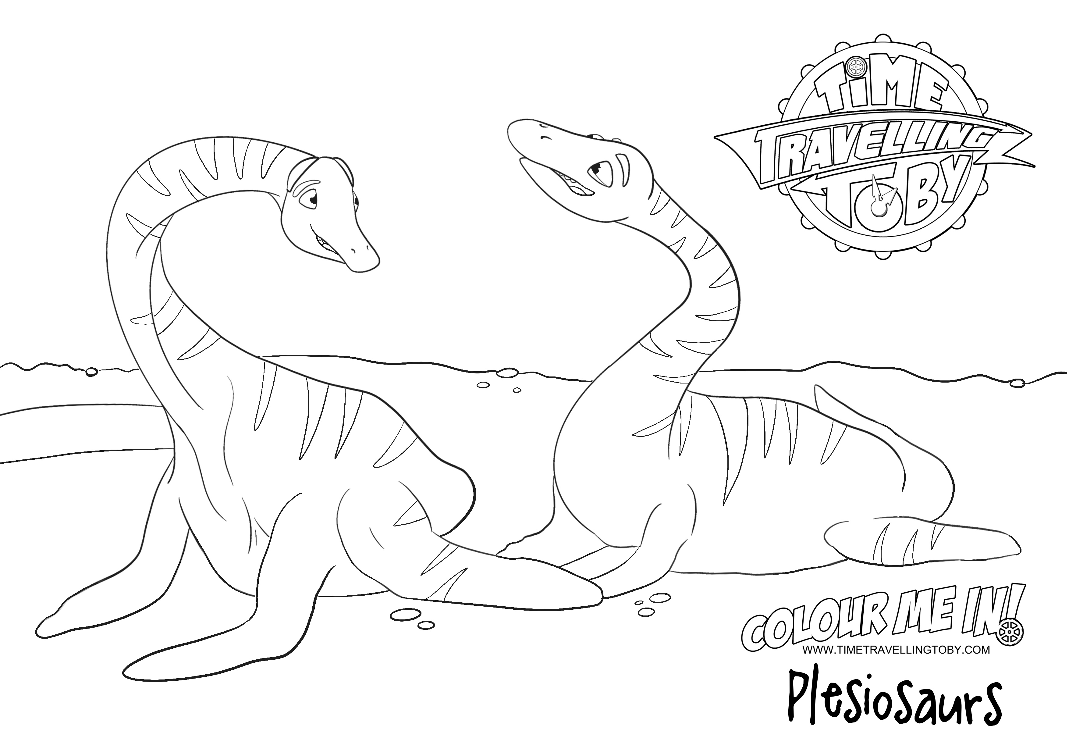 Colouring sheet Plesiosaurs