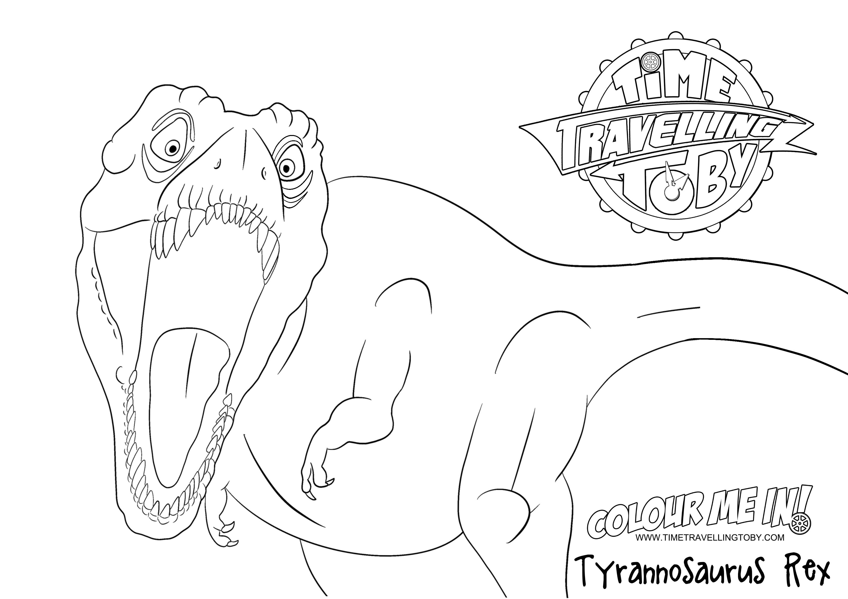 Colouring sheet T Rex